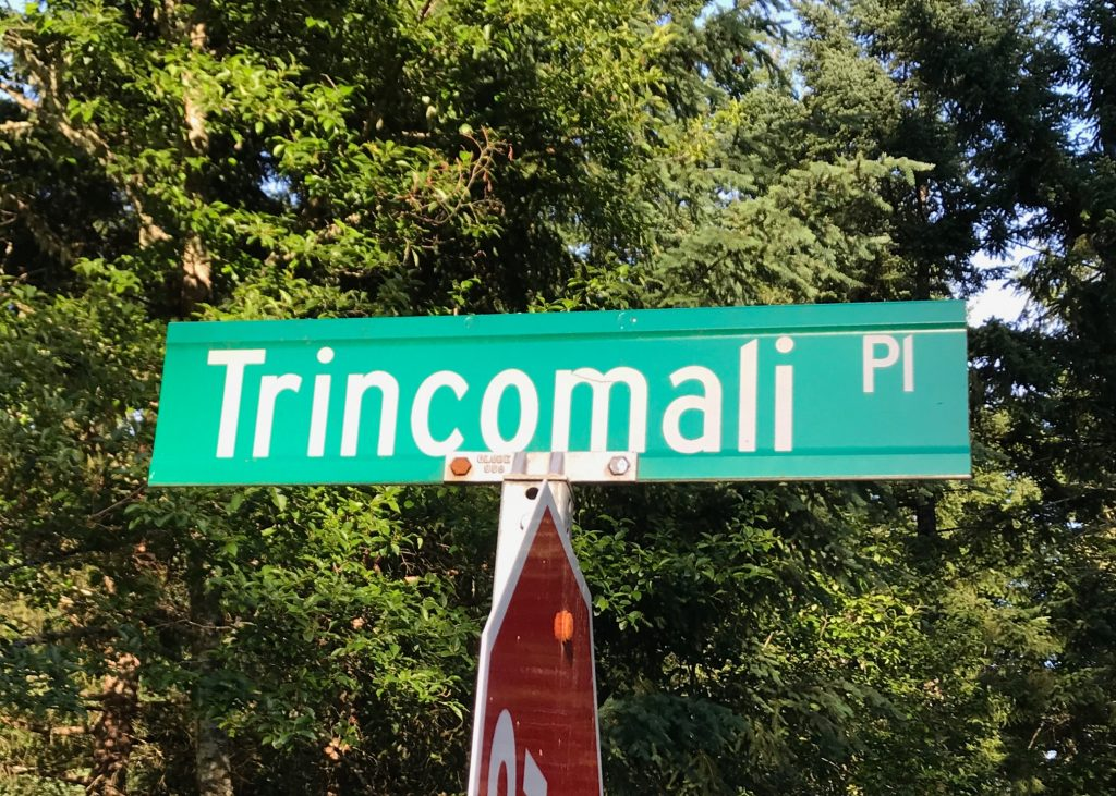 Trincomali Place road sign