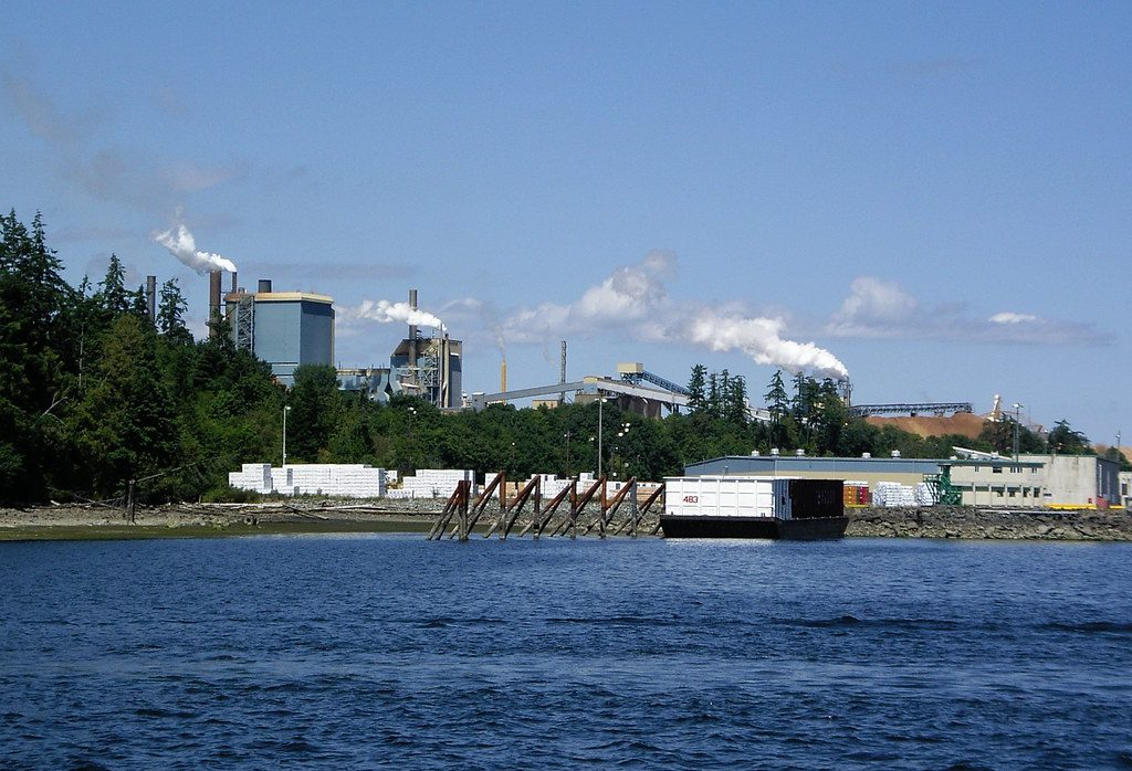 view of the Crofton paper and pulp mill